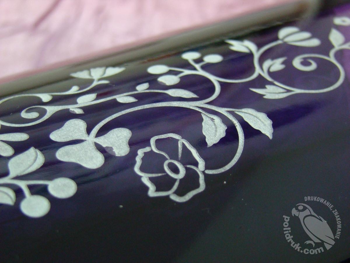Grawerowanie laserem Gdańsk - kolorowe szkło | polidruk.com