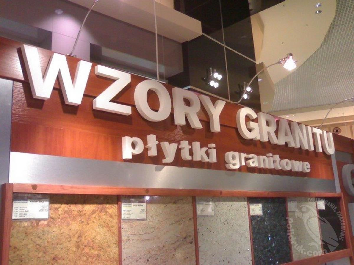 Litery ze styroduru, Gdańsk | polidruk.com